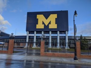 Sign for the Big House in Ann Arbor