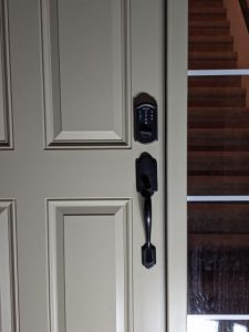 Door with a Keyless Deadbolt