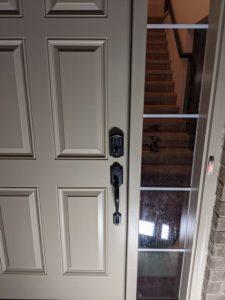Door with a Keyless Deadbolt