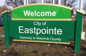 welcome to the city of eastpointe sign