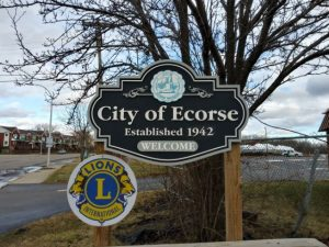 welcome to the city of ecorse sign