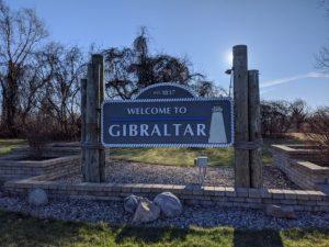 gibraltar welcome sign