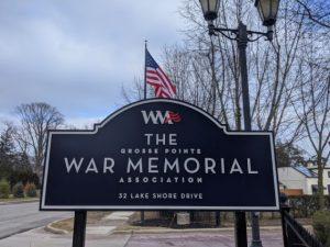 the grosse pointe war memorial association sign