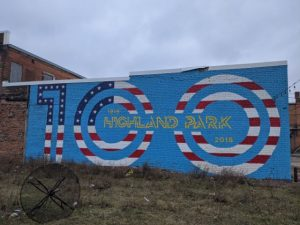 wall mural of highland park