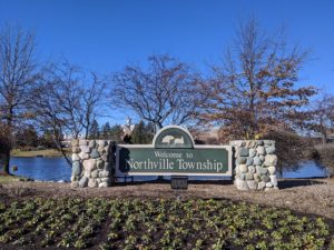 welcome to northville township sign