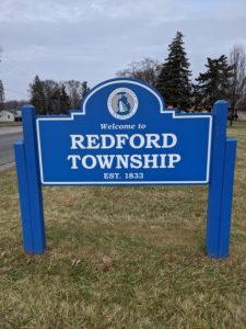 redford township welcome sign