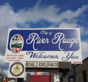 city of river rouge sign