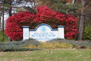 welcome to riverview sign