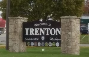 welcome to the city of trenton sign