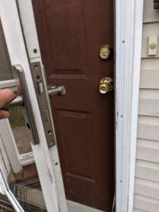 glass door and brown door rekey